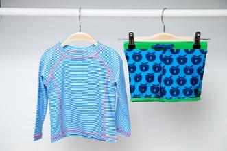 Badehose von Smafolk 24,95€ UV +50 Shirt von Ducksday 23,95€