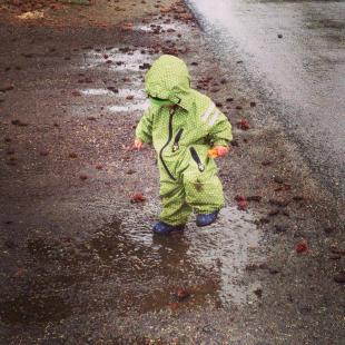 Rainsuit Funky green